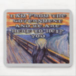 Munch's The Scream:  Government Help! Mousepad