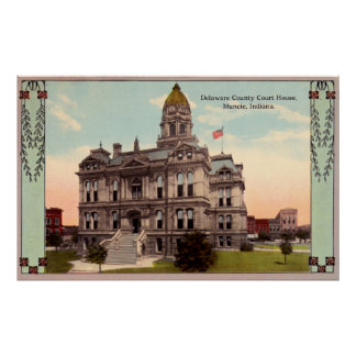 Muncie, Indiana Courthouse Poster