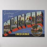 Muncie, Indiana - escenas grandes de la letra Póster
