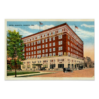 Muncie Indiana Hotel Roberts Posters