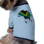 Mundial 2010 del fútbol camisa de perrito