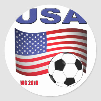 Mundial 2010 del fútbol de los E.E.U.U. Etiqueta Redonda