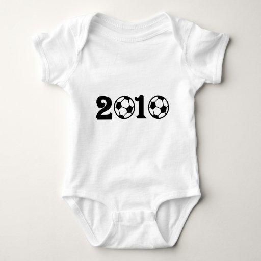 Mundial 2010 del fútbol del fútbol body para bebé