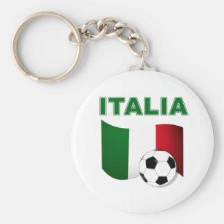mundial 2010 del fútbol del fútbol de Italia Llavero Redondo Tipo Pin