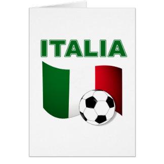 mundial 2010 del fútbol del fútbol de Italia Tarjeta De Felicitación