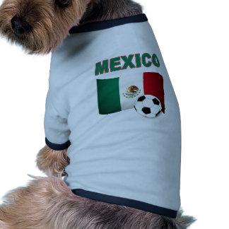mundial 2010 del fútbol del fútbol de México Ropa Perro