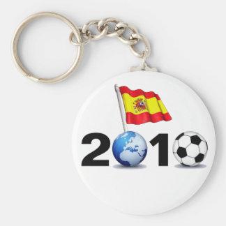 Mundial 2010 - España Llavero Redondo Tipo Pin
