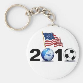 Mundial 2010 - Fútbol de los E.E.U.U. Llavero Redondo Tipo Pin