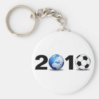 Mundial 2010 - Fútbol Llavero Redondo Tipo Pin