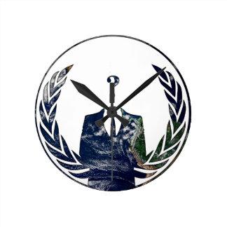 Mundial anónimo reloj de pared