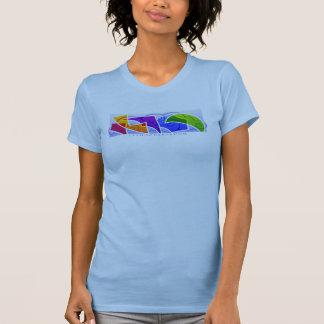 Mundo 1 para mujer de Kiting echado a un lado Tee Shirts