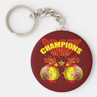 Mundo 2008 de España Europa de los campeones 2010 Llavero Redondo Tipo Pin