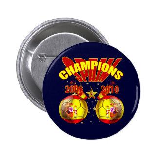 Mundo 2008 de España Europa de los campeones 2010 Pin Redondo 5 Cm