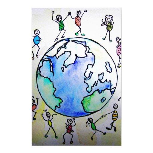 mundo 2 de los niños papeleria de diseño