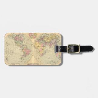 Mundo. 2 etiquetas maleta