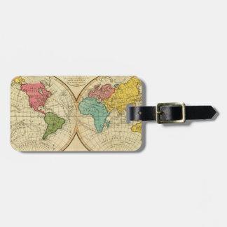 Mundo. 3 etiquetas maleta