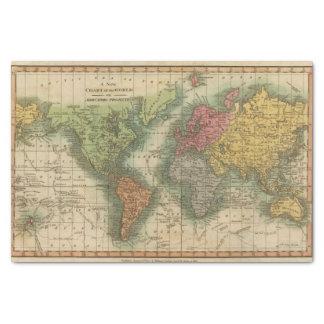 Mundo 4 papel de seda pequeño