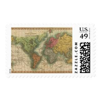 Mundo 4 sello postal