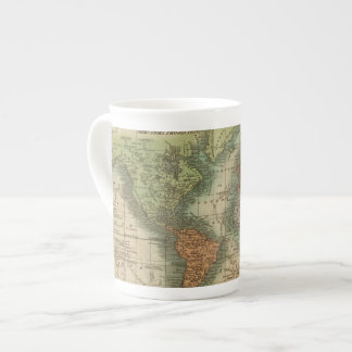 Mundo 4 taza de porcelana