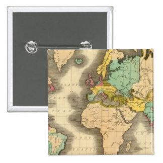 Mundo 6 pin cuadrada 5 cm