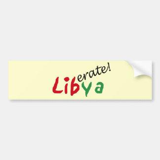 Mundo Affairs_Liberate Libia Etiqueta De Parachoque