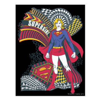 Mundo al azar 1 de Supergirl Tarjeta Postal