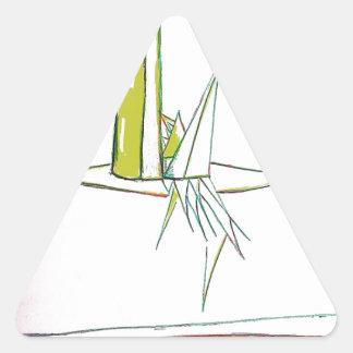 Mundo alfa pegatina triangular
