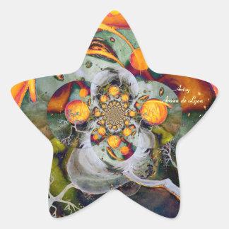 Mundo alterno 1 pegatinas forma de estrellaes personalizadas
