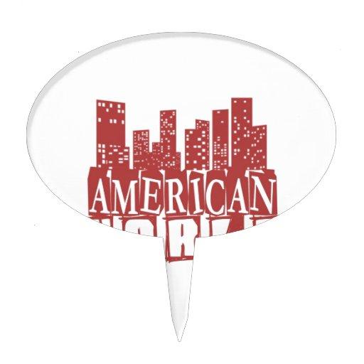 Mundo americano figuras de tarta
