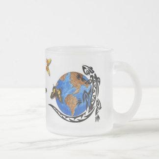 Mundo animal taza cristal mate
