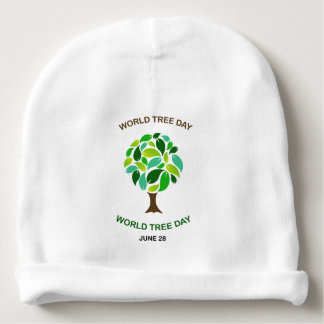 Mundo árbol día 28 de junio gorrito para bebe