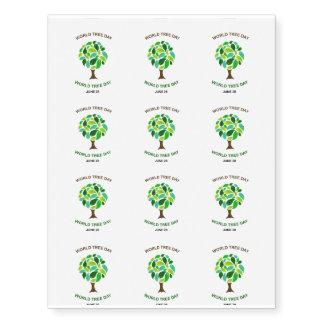 Mundo árbol día 28 de junio tatuajes temporales