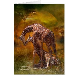 Mundo ArtCard de la jirafa