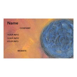 Mundo azul de la tarjeta de visita del oro