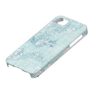 Mundo azul fresco - colección funda para iPhone 5 barely there