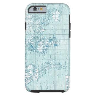 Mundo azul fresco - colección funda para iPhone 6 tough