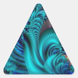 Mundo azul pegatina triangular
