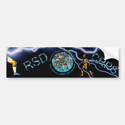 Mundo BRITÁNICO de la conciencia de CRPS/RSD del p Etiqueta De Parachoque
