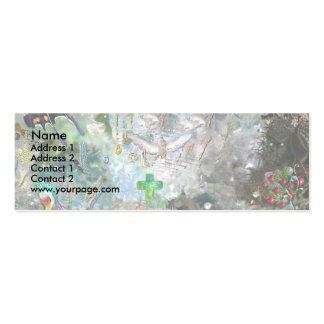 Mundo cariñoso, plantilla tarjetas de visita mini