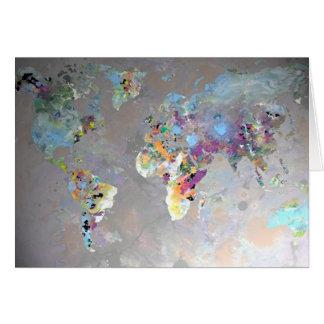 Mundo colorido tarjeta de felicitación