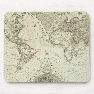 Mundo compuesto o globo terráqueo alfombrilla de raton