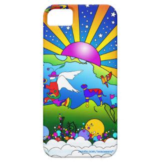 Mundo cósmico del mascota iPhone 5 Case-Mate funda