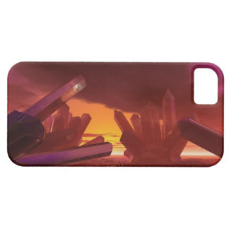 Mundo cristalino extranjero rojo funda para iPhone SE/5/5s