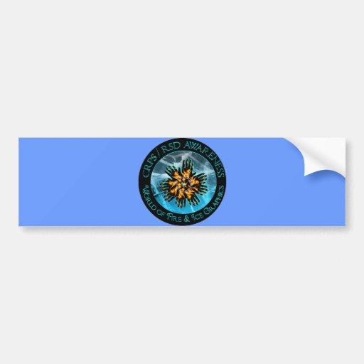 Mundo de CRPS/RSD de la pegatina para el parachoqu Pegatina De Parachoque