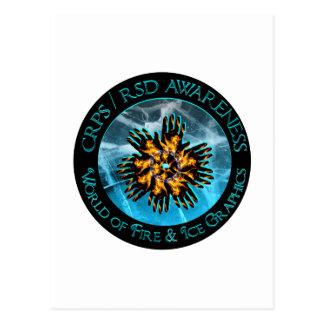Mundo de CRPS/RSD de la tarjeta del fuego y del Tarjetas Postales