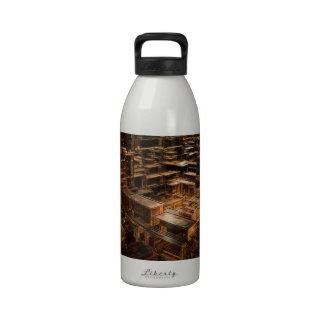 Mundo de cubos botellas de agua reutilizables