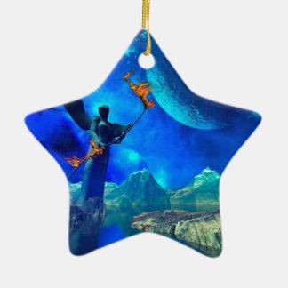 Mundo de fantasía adorno de cerámica en forma de estrella