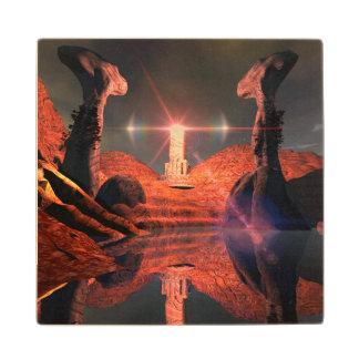Mundo de fantasía impresionante posavasos de arce