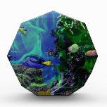 Mundo de fantasía subacuático de pescados
