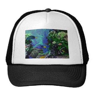 Mundo de fantasía subacuático de pescados gorros